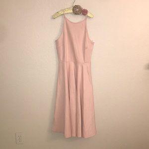 Nordstrom pink a line dress. NWOT !